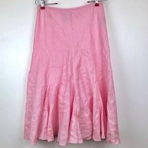 Lauren Ralph Lauren light pink linen flare skirt